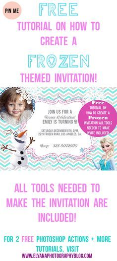 Printable WINTER POOL PARTY Invitation Winter Birthday - How to make a birthday invitation in photoshop elements
