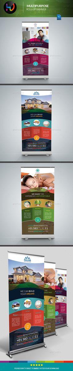 Multipurpose Banner Signage Template #design Download: http://graphicriver.net/item/multipurpose-banner-signage-2/12255755?ref=ksioks