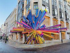 Louis Vuitton launch external art installation to celebrate New Bond Street store - Retail Focus Retail Facade, Award Display, Instalation Art, Window Display Design, Louis Vuitton Store, Bond Street, Facade Design, Public Art, Retail Design