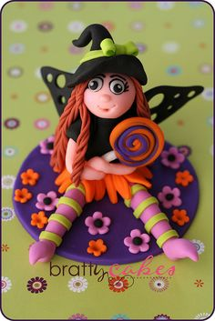Halloween Fairy cake topper