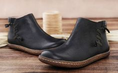 Handmade Flat Shoes for Women Oxford Shoes Ankle van HerHis op Etsy