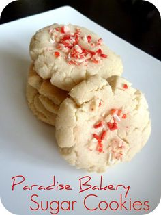 Fancy Frugal Life: Paradise Bakery Sugar Cookies (Copy Cat recipe):  substitute half butter for shortening?