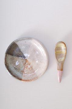 Salt and Pepper Dish from NY based ceramic artist Shino Takeda.