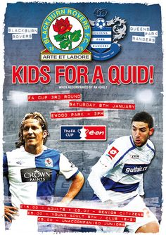 Matchday ad promoting Rovers v QPR