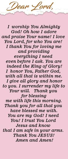 Powerful Morning Prayer of Praise and Worship to God Prayer Of Praise, Prayer For Today, Prayer For Family, Prayer Scriptures, Bible Prayers, Faith Prayer, God Prayer, Power Of Prayer, Prayer Quotes