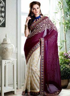 4 Indian Banarsi Sarees Collection for eid 2014 (6)