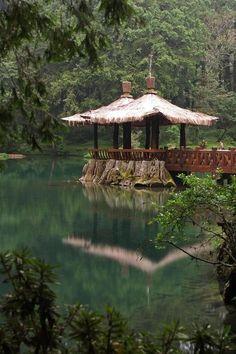Lake Gazebo, Alishan, Taiwan photo by manuel