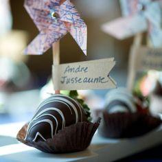 Della Terra Mountain Chateau Estes Park Wedding Chocolate Covered Strawberries-- I like the Pinwheels!!!