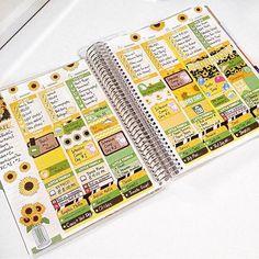 Sunflower spread! sorry for the planner spam!!! #planner #plannelife #planwithme #plannergeek #plannernerd #planneraddict #plannerlove #erincondren #erincondrenlifeplanner #ECLP #eclove #ECstickers #ECfanfriday #plannerstickers