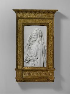 Mrs. Stanford White, nee, Bessie Springs Smith, depicted here, in a carved marble sculpture. She, the wife of famous Gilded Age era American architect, Stanford White.   ~ Created by: Augustus Saint-Gaudens (1848-1907) - Irish born, American, (raised in NYC), Beaux-Arts sculptor, of the Gilded Age era. ~~ {cwl} ~~ (Image via: Met Museum)