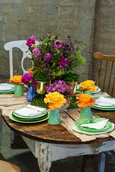 Jewel-toned blooms. Thank you party for bridesmaids. Nick Abadilla Photo for Valley & Co.