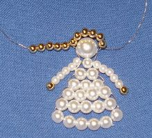 Making angels out of pearls - Diy and Crafts for Projects Christmas Ornaments To Make, Christmas Angels, Christmas Crafts, Safety Pin Crafts, Beaded Angels, Native American Beadwork, Beaded Ornaments, Xmas Decorations, Beaded Embroidery