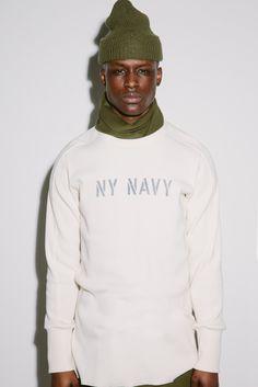 aime leon dore ald teddy santis ny navy justin chung new york nyc fashion Nyc Fashion, Mens Fashion, Aime Leon Dore, Twill Pants, Lookbook, Ss 15, Dapper, Style Guides, Chef Jackets