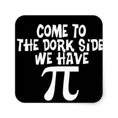 Come to the Dork Side! Square Stickers http://www.zazzle.com/come_to_the_dork_side_square_stickers-217136582609005547?view=113406784652411134&rf=238282136580680600