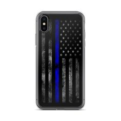 Thin Blue Line Us Flag Police Hard Rubber Phone Case For Iphone,samsung,google 100% Guarantee Cell Phones & Accessories
