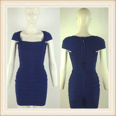off shoulder blue bandage dress with zipper celebrity dresses DM042 E-mail:fashondress@gmail.com Tel:86-189 3399 5760       86-135 1277 1920