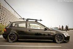 88 Hellaflush Honda Civic CRX Si black with deep dish ...
