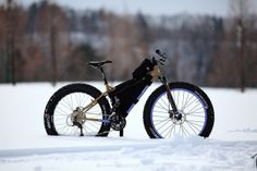 SURLY CYCLES FAT BIKE SNOW RIDE, via Flickr. Adventure awaits at http://www.elevationreso... #fatbike #bicycle #fat-bike