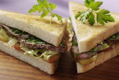 Sandwich mit geräucherter Gänsebrust #goldentoast