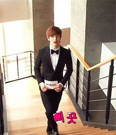 BTOB~Sungjae #Very smooth… but this randomly happens to me when walking up the stairs too.