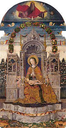 Antonio da Negroponte: Madonna col Bambino; Venezia, Chiesa di San Francesco della Vigna