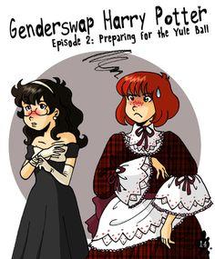 Genderswap Harry Potter 2: The Yule Ball by mistressmariko.deviantart.com on…