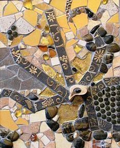Phoenix by Cristina-Mary Buzamet Mosaic Designs, Mosaic Art, Stained Glass, City Photo, Mixed Media, Mary, Wall Art, Abstract, Phoenix