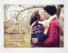 Modern Stripes Save The Date Cards by Jenifer Mart. Unique Save The Dates, Save The Date Photos, Save The Date Postcards, Save The Date Cards, Winter Engagement, Engagement Session, Engagement Photography, Engagement Photos, Engagements