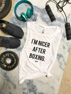 I'm Nicer After Boxing Workout Tank Boxing Boxing Tank