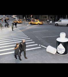 Détail de l'installation Street Marketing, Urban Intervention