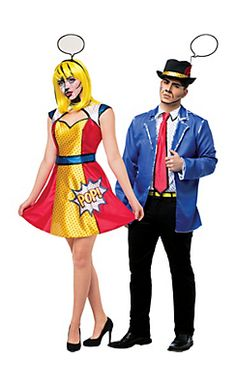 Pop Art Couples Costumes