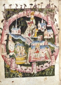 York (15th century) - This image was part of a manuscript from the early-15th century. It depicts the northern English city of York