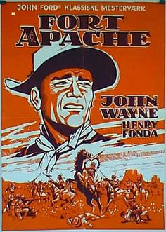 FORT APACHE (1948) - John Wayne - Henry Fonda - Shirley Temple - Directed by John Ford - RKO-Radio - German Movie Poster.