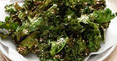 These crispy kale chips make a great starter or snack.