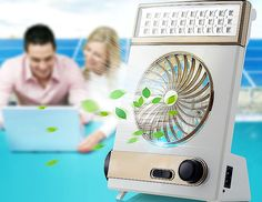 multifunctional LED Solar Power Charging Type Portable Mini Fan With Eye-Protection Lamp16051801
