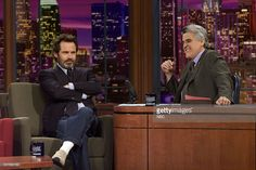 Comedian Dennis Miller during an interview with host Jay Leno on December 4, 2002 --