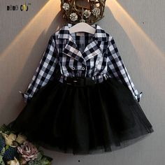 Black/White Check Dress