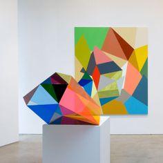 Gemma Smith / Olivine, 2008 + Boulder / installation view Sarah Cottier Gallery