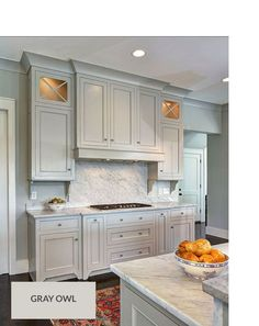 Ordinaire Possible Cabinet Color: Cabinets Painted With Gray Owl Benjamin Moore