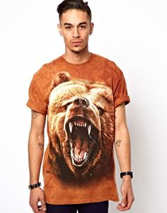 The Mountain T-Shirt with Grizzly Face