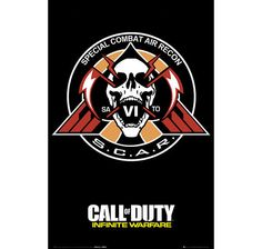 Call of Duty Poster Infinite Warfare S.C.A.R. Logo. Hier bei www.closeup.de