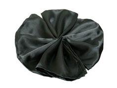 "5 PCS Wholesale Black Satin Napkins For Wedding Birthday Party Tableware - 20x20"""