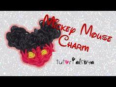 ▶ 1 LOOM Mickey Mouse Rainbow Loom Charm Tutorial- ORIGINAL DESIGN - YouTube
