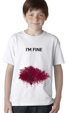 I'm Fine Bloody Zombie T-shirt | CrazyDog T-shirts