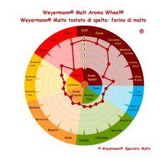 Weyermann® Malt Aroma Wheel® Malto tostato di spelta - farina di malto