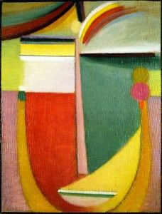99 paintings entitled Abstract Head by Russian painter Alexei Jawlensky