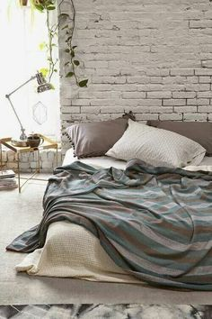 Magical Thinking Diamond-Stripe Bed Blanket from Urban Outfitters. Saved to Make Your Bed .