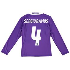 Real Madrid Away Jersey 2016/17 - Kids - Long sleeve - with Sergio Ram: The Real Madrid Away Shirt 2016-17… #RealMadridShop #RealMadridStore