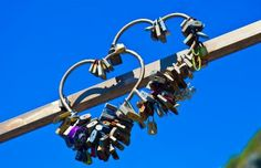 Love Locks on the entrance to the Via Dell'Amore. By Cinque Terre Wedding.