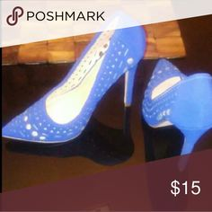 Blue heels Size: 8 JustFab Shoes Heels
